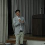 講演する青山氏(ケンエレファント)